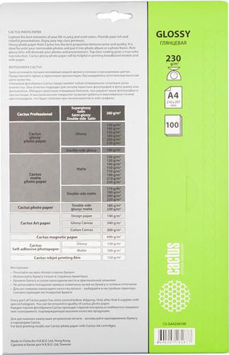 ���������� CACTUS ��������� A4 230 �/��.�. 100 ������ (CS-GA4230100)